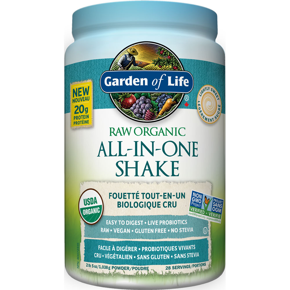 : Garden of Life-All-in One Nutritional Shake, Lightly Sweetened