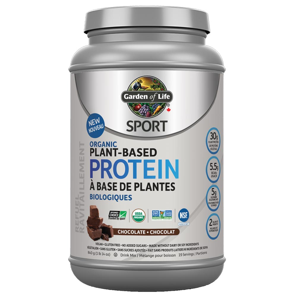 : Garden of Life Sport Plant Based Protein, Chocolate