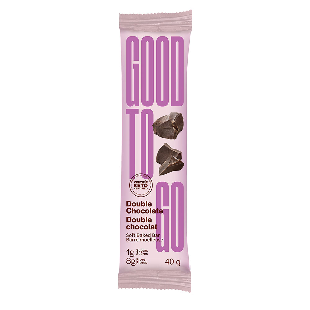 : Good To Go Keto Snack Bars, Double Chocolate, 9 Bar Pack