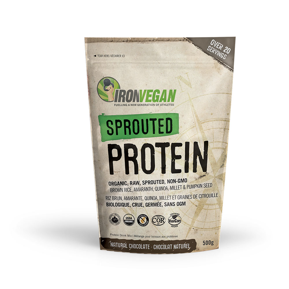: Iron Vegan Sprouted Protein, Chocolate