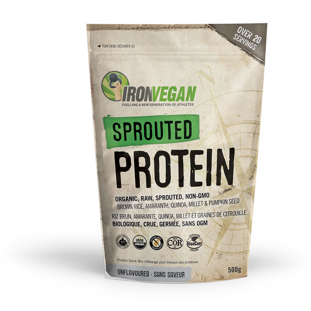 : Iron Vegan Sprouted Protein, Unflavoured