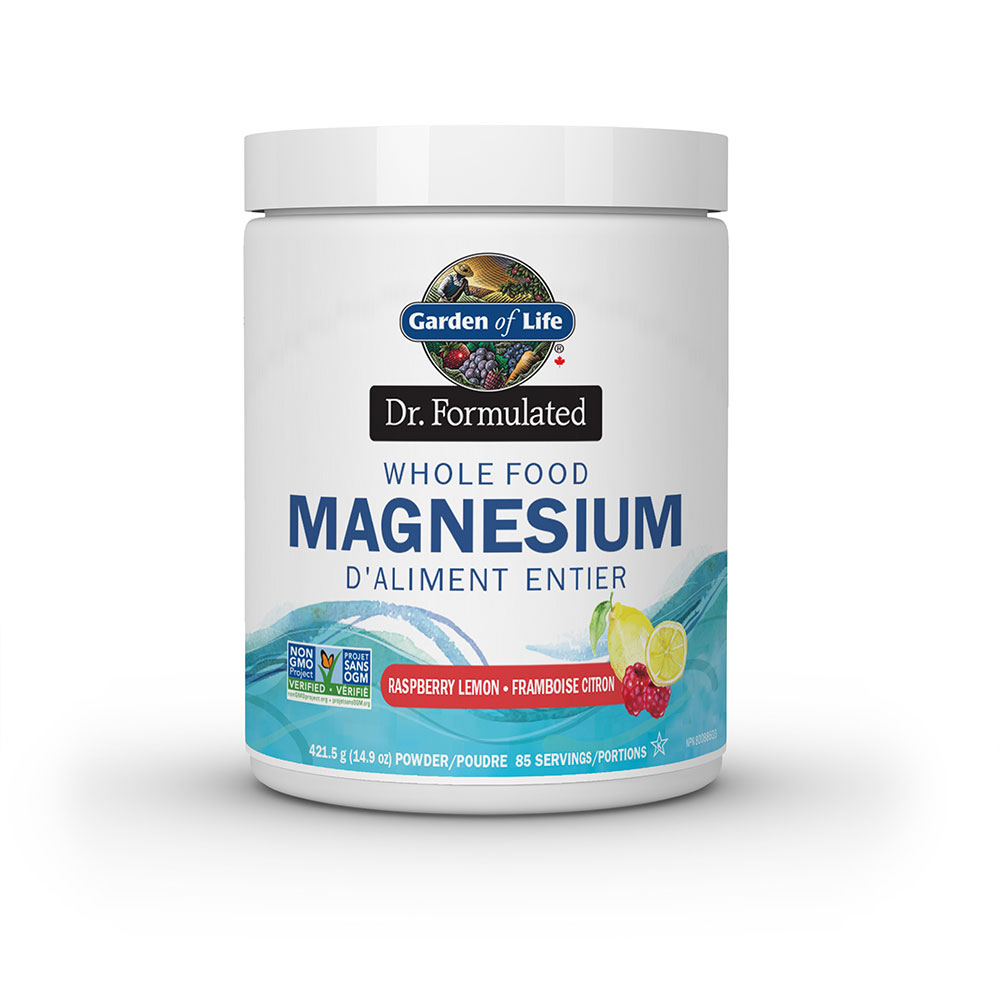 : Garden of Life Dr. Formulated Whole Food Magnesium, Raspberry Lemon